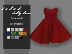 /A cute puffy dress Found in TSR Category 'Sims 4 Female Everyday' The Sims 4 Pc, Sims 4 Mm, Sims 4 Mods Clothes, Sims 4 Clothing, Sims 4 Wedding Dress, Sims 4 Cas Mods, Dolly Dress, Mod Dress, Play Sims 4