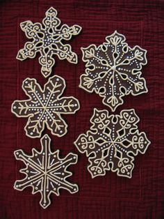 Cool summer snowflake cookies «