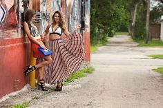 a bright and bold look with finder's keepers vibe bra and jamaica maxi skirt