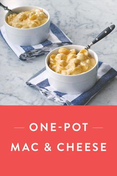Delicious One-Pot Mac & Cheese ready in just 30 minutes. Discover this cheesy, gooey recipe that's good for two or the whole family.