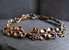 Hannu Ikonen Reindeer Moss Bracelet  Bronze by 20thCenturyStudio