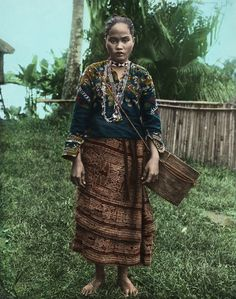 Manobo woman in traditional clothing