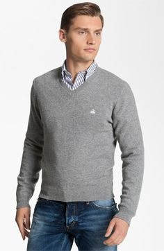 Brooks Brothers by Jeffrey V-Neck Cashmere Sweater available at Nordstrom NorthPark. This classic cashmere sweater is great for all of the holidays to come in the winter.