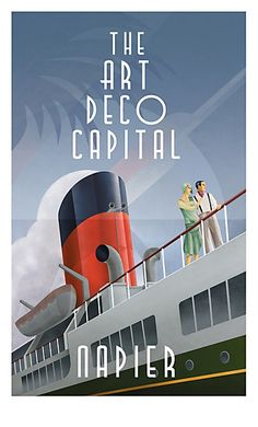 Art Deco Vintage poster Napier