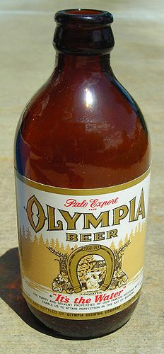"""Stubby"" Olympia Beer Bottle, 1960's"
