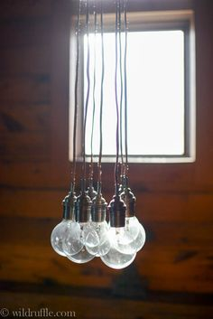 Rustic lightbulbs for lights in the shop!