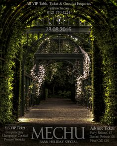 One night only, secret midnight garden party. Mechu 28.08.2016