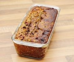 Chocolate Zucchini Walnut Bread Loaf