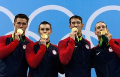 Micheal Phelps and team win gold