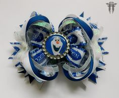 Over the Top OTT Stacked Frozen Olaf Inspired Boutique Hair Bow Blue White in Clothing, Shoes & Accessories, Kids' Clothing, Shoes & Accs, Girls' Accessories | eBay