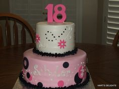 18th birthday cake ideas girls Birthday Cakes Pinterest 18th