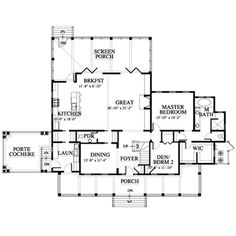 Rendering Of Floor Plan For Nichols Palmetto Bluff Home