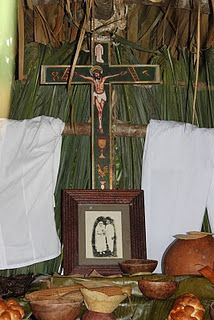 Hanal Pixan altar in Merida