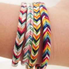 A fun twist on the classic friendship bracelet we all know and love...