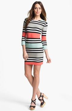 French Connection 'Jag' Multi Stripe Jersey Dress