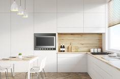 50 Best Small Kitchen Remodel Designs for Smart Space Management - Home & Garden Kitchen Design Gallery, Kitchen Lighting Design, Timber Kitchen, White Kitchen Cabinets, Kitchen Furniture, Kitchen Decor, Kitchen Ideas, Pose Parquet, Latest House Designs