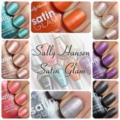 New! Sally Hansen Satin Glam Nail Polish Swatches & Review #nails via @All Lacquered Up
