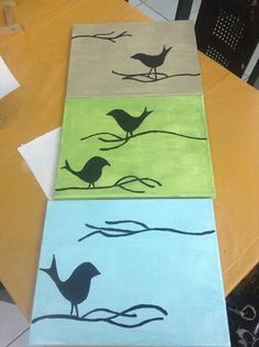 Bird multi canvas painting