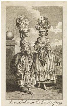 Two Ladies in the Dress of 1779, The Ladies' Own Memorandum Book. MoL 008171