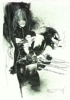 Wolverine and Rogue by Ashley Wood