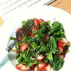 Salad, Strawberry And Spinach Salad With Honey Balsamic Vinaigrette, This Is A Great, Easy Summer Salad With A Lot Of Options As To Mixing And Matching. When The Gorgonzola Cheese And Balsamic Vinaigrette Combine It Gets All Tart And Creamy!