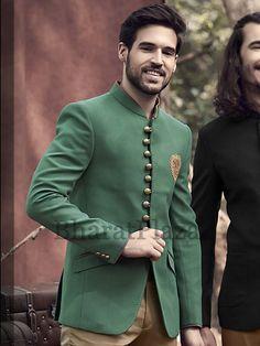 Debonair Green Jodhpuri Suit