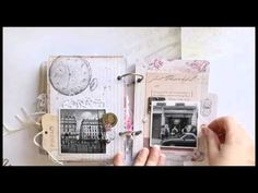 Moments in Paris minialbum by Riikka Kovasin for Canvas Corp Brands