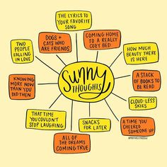 Some sunny thoughts for a very un-sunny day. What would you add to this illustration?