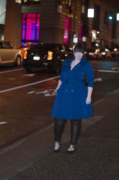 plus size trench coat colores blue trench coat ootd seattle city chic sometimes glam