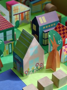 Print Paper House 10, Print and Make your own neigborhood, Free Printable Crafts for Kids, Printable Paper Toys Houses and Print a Street for fans of www.wonderweirded.com , with thanks to vivint for their series of print out pdfs