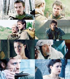Alan, Robin, Much and Robin, Sir Guy, Marian, the Sheriff, Robin, and Marian from the BBC Robin Hood. I actually don't really like Robin. :P And the Sheriff honestly doesn't have to be on there.