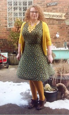 Flutter Venice Abstract Fit & Flare Dress on Gwynnie Bee member Paula