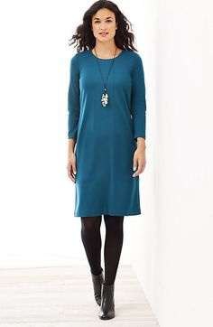 ponte knit seamed dress