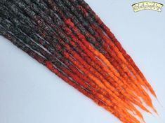 Fire & Brimstone SE x 12 Crochet Synthetic Dreads - grey red orange Natural Dreads, Back Combing, Synthetic Dreadlocks, Dreadlock Styles, Black Girls Hairstyles, Hair Pieces, Color Inspiration, Bangs, Sunshine