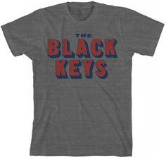 The Black Keys Official Store - The Black Keys Text Gray T-shirt