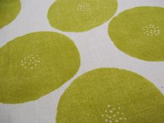 Large Orbs in Mustard Yellow by Tomotake for Kokka  by Owlanddrum, $16.00