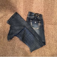 For Sale: Darkwash Bootcut Miss Me Jeans for $43