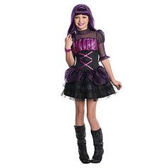 This Monster High Elissabat Child Costume won't turn your little girl into a vampire, but she'll look cute wearing this!