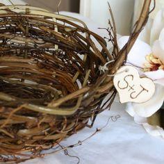 Flower Girl Basket - Grapevine - Personalized - Rustic Beauty | thepaperynook - Wedding on ArtFire
