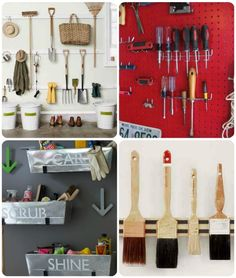 Budget Friendly #Garage #Organization for Tools http://blog.homes.com/2012/01/budget-friendly-garage-organization/