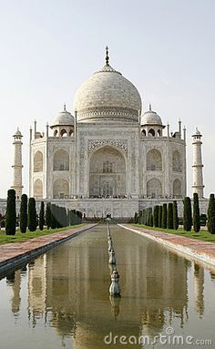Beautiful mosque Taj Mahal. Agra, India by Ragne Kabanova, via Dreamstime