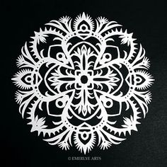 Cynthia Emerlye, Vermont artist and kirigami papercutter: Radial Symmetry