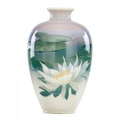 WILLIAM McDONALD (1882 - 1931)ROOKWOODFine large Iris Glaze vase with water lilies (uncrazed), Cincinnati, OH, 1903 Flame mark/III/787B/WPM and part