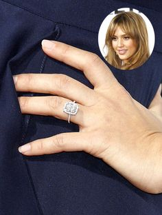 Jessica Alba's sparkly engagement ring from husband Cash Warren