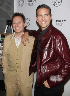 Photo of Jim Caviezel & his friend actor  Michael Emerson - Person of Interest