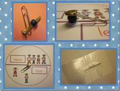 Kim Adsit got this tip from another teacher about game spinners - put a pony bead to help with the spinner action! Great Idea from Kindergals Blog!