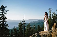 Bride at Heavenly Resort in South Lake Tahoe, California. Photo courtesy of Rose Street Studio. #mountainwedding