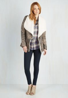 Aviation Admiration Jacket. Prepare to be pushed up to the highest elevation of excellent fashion with this vegan faux-suede jacket from Jack by BB Dakota! #brown #modcloth