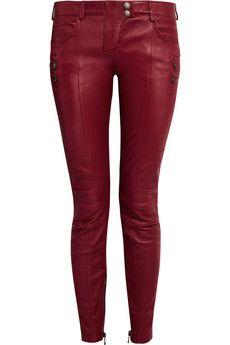 Balmain Paneled leather skinny pants | THE OUTNET