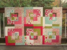 easy quilt tutorial - I love the  colors!